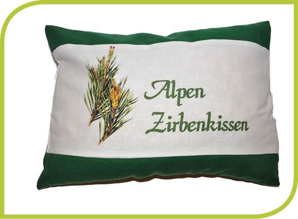 """Zirbenkissen """"Alpen"""""""